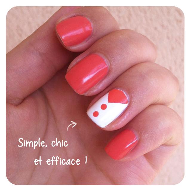Chic ! Du Corail... [Nail Art]