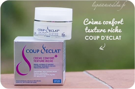 Crème confort texture riche coup d'éclat