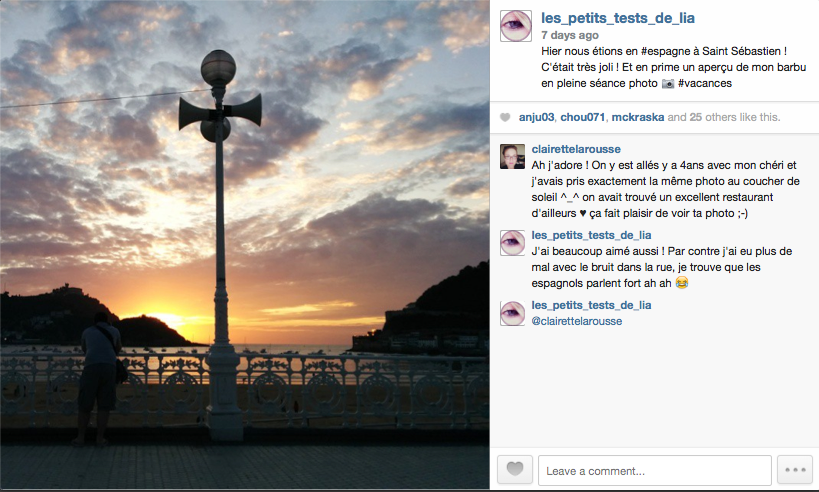 Saint sebastien Instagram Espagne