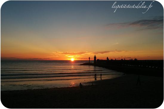 cap breton coucher de soleil plage
