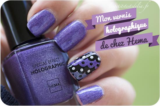 vernis holographique Hema purple 55