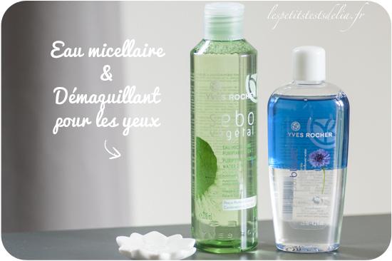eau micellaire et démaquillant au bleuet biphase Yves Rocher