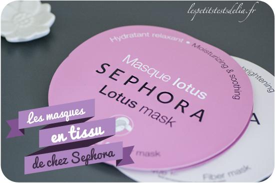 masque en tissu Sephora Lotus et Perle