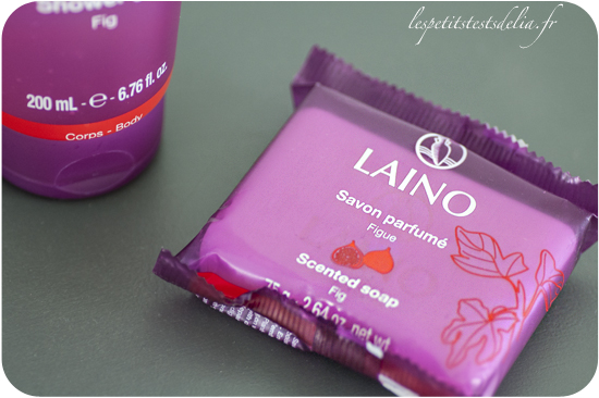 savon et gel douche à la figue Laino