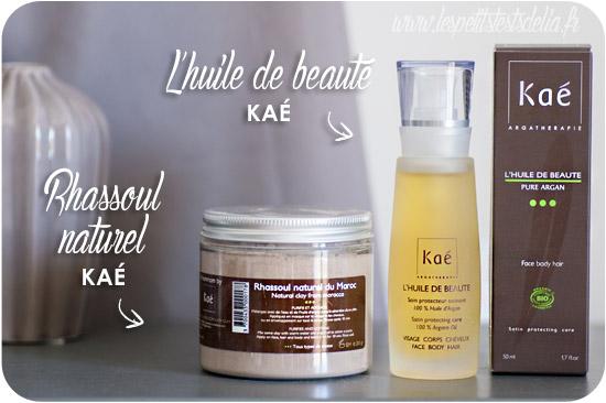 Ma boite à beauté La Sublime le rassoul et l'huile Kaé