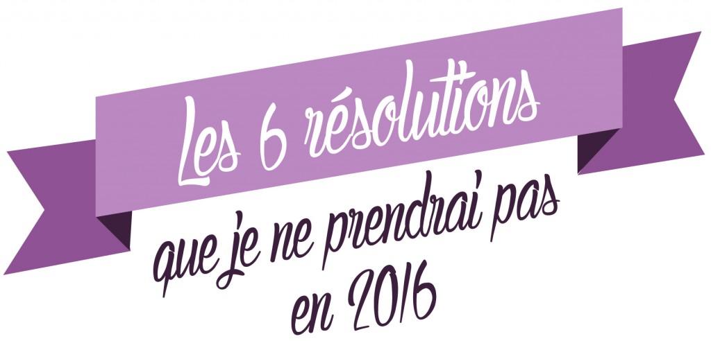 Les bonnes résolutions 2016
