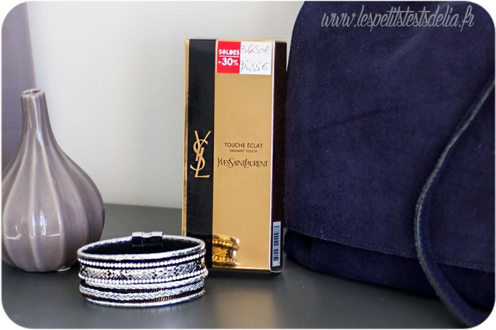 Touche éclat de Yves Saint Laurent et bracelet Reserve naturelle