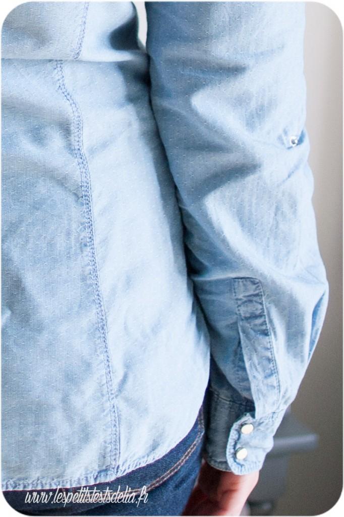 chemise promod en jean clair