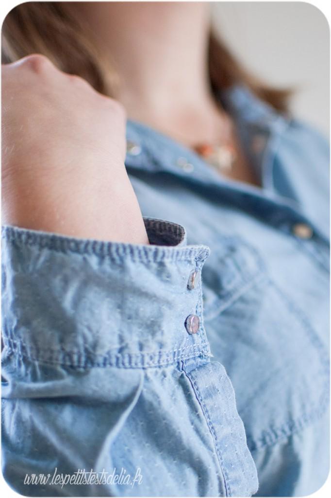 chemise détail promod en jean