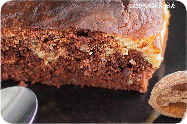 La recette du brownie façon cheesecake