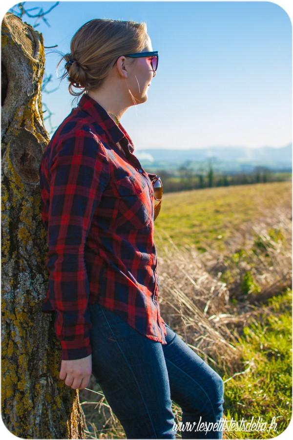 Mon look du printemps avec ma chemise à carreaux