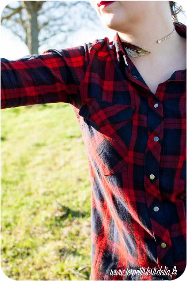 Mon look du printemps avec ma chemise à carreau