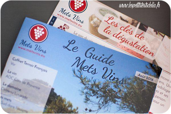 Box culinaire association de vins et plats