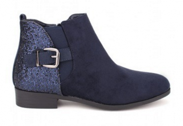 Bottines bleues paillettes