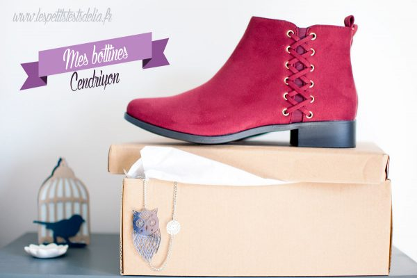 Bottines bordeaux Cendriyon